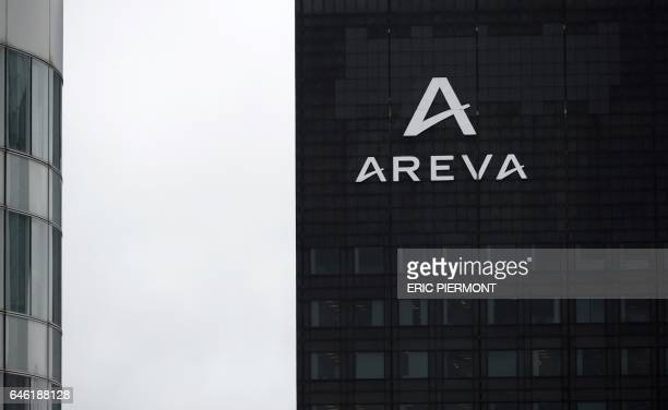 A photo taken on February 28 2017 shows French nuclear group Areva headquarters in La Defense business district outside Paris Areva will present its...