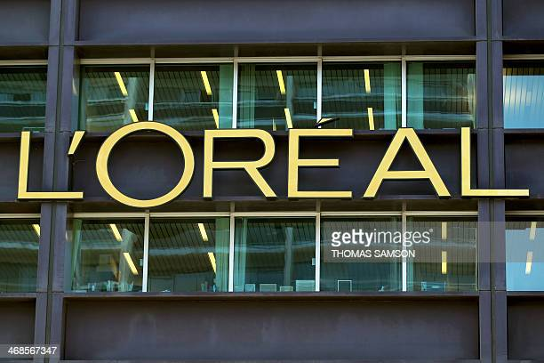 Photo taken on February 7 2010 shows the logo of French group L'Oreal the world's largest cosmetics maker on L'Oreal headquarters in Clichy near...