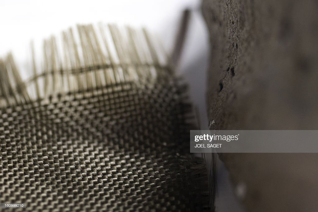 A photo taken on February 8, 2013 shows basalt fibers from volcanic magma on display at the exhibition 'Futurotextiles 3' scheduled until July 14 at the Cite des Sciences et de l'Iindustrie in Paris.