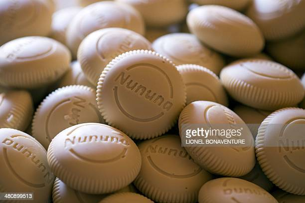A photo taken on January 25 2014 shows Nununa soaps made from shea butter in Leo Burkina Faso In the West shea butter is mostly used for cosmetics as...