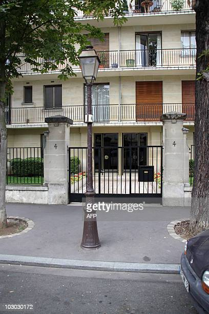 Photo taken on July 13 2010 in the NeuillysurSeine west of Paris shows the entrance of a building located in the SaintJames neighborhood where an...