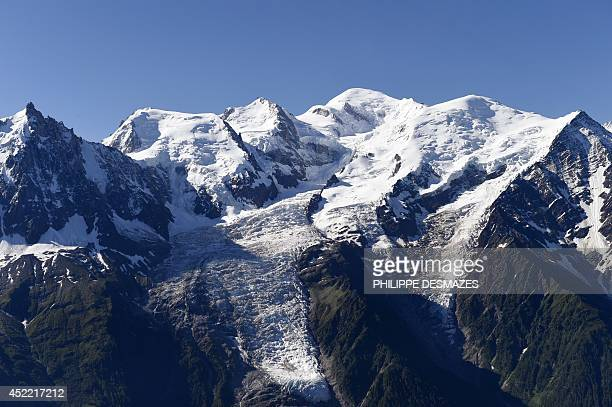 A photo taken on July 16 2014 from the Brevent mountain shows a view of the MontBlanc range in the French Alps AFP PHOTO / PHILIPPE DESMAZES