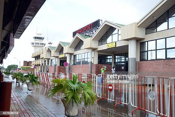A photo taken on July 24 2014 shows the Ouagadougou airport in Burkina Faso An Air Algerie plane with more than 110 people on board including French...