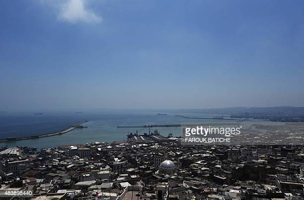 CHEBALLAH A photo taken on July 28 2015 shows the centre of the Algerian capital Algiers and it commerical port Faced with a burst in population...
