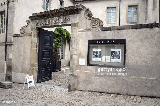 A photo taken on July 4 2014 shows the Rolin Museum in the centraleastern French city of Autun where archaeologists and researchers are trying to...