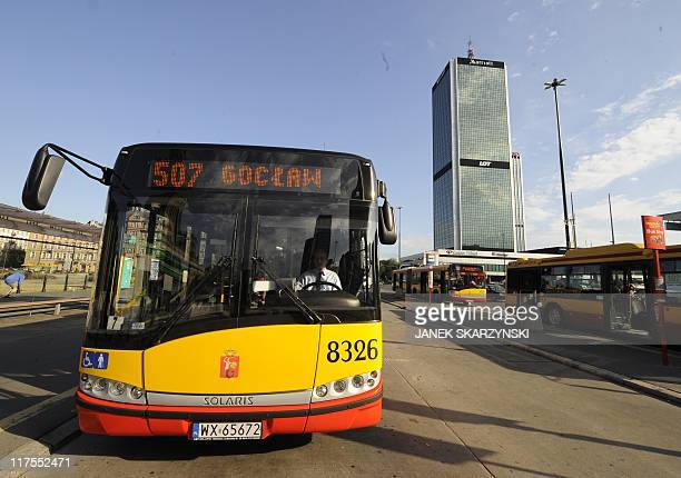 A photo taken on June 24 2011 shows a Solaris bus in Warsaw The founder and director of bus producer Solaris created in 1996 Krzysztof Olszewski is a...