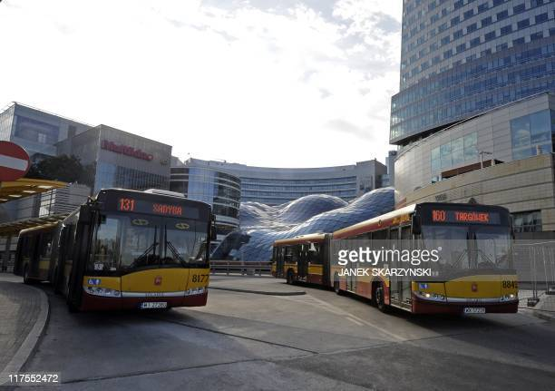 A photo taken on June 24 2011 shows Solaris buses in Warsaw The founder and director of bus producer Solaris created in 1996 Krzysztof Olszewski is a...