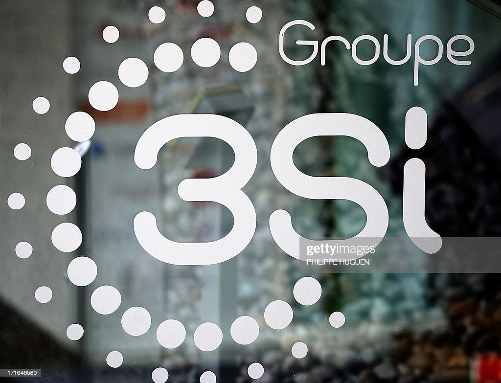 Photo taken on June 27, 2013 shows the logo of 3 Suisses International (3SI) group, at the group's headquarters in Villeneuve-d'Ascq, France on June 27, 2013. Denis Terrien, director general of 3SI, announced on June 27 that the German group Otto, the second world leader in e-commerce, has proposed to buy the bulk of 3SI's e-commerce activities.