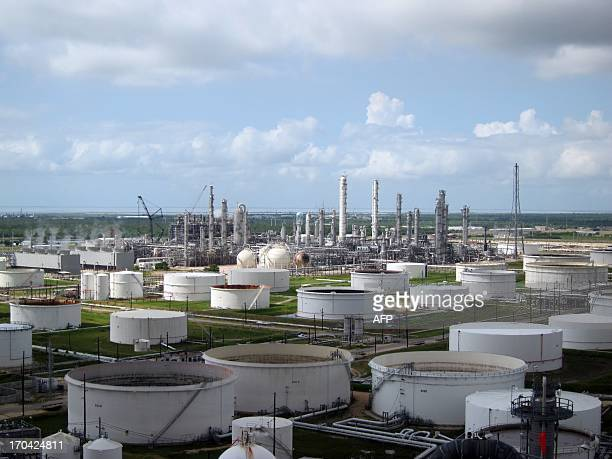 A photo taken on June 6 2013 shows a general view of French oil giant Total's Texan plant in Port Arthur AFP PHOTO / MARC PREEL