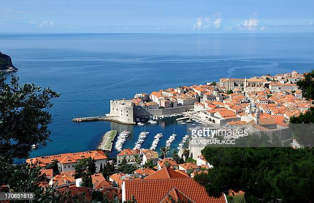 A photo taken on June 6 2013 shows the medieval port of Dubrovnik on Croatia's Adriatic coast Croatia's azure Adriatic coastline dotted with over a...