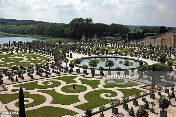 A photo taken on June 6 2013 shows the parc de l'Orangerie of the Chateau de Versailles AFP PHOTO / CLAIRE LEBERTRE