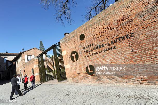A photo taken on March 15 2012 shows the entrance of the museum dedicated to French painter and lithographer Henri de ToulouseLautrec in Albi...