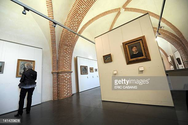 A photo taken on March 15 shows one of the exhibition rooms of the museum dedicated to French painter and lithographer Henri de ToulouseLautrec in...