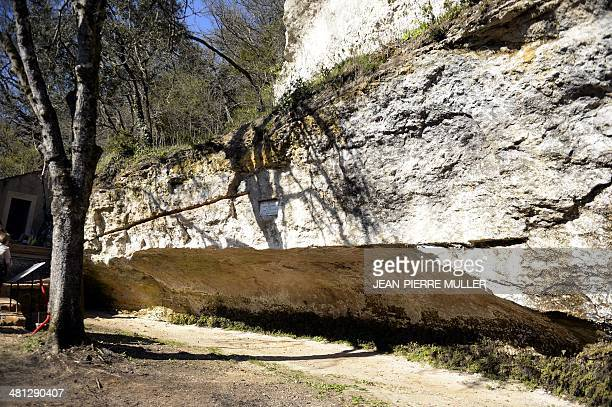 A photo taken on March 19 2014 shows a view of the place where was found in 1868 a prehistoric human the CroMagnon man near the new Abri de CroMagnon...