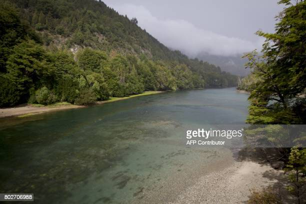 Photo taken on March 20 2010 of the Arrayanes river at Los Alerces national park in the Patagonian province of Chubut Argentina Argentina has...
