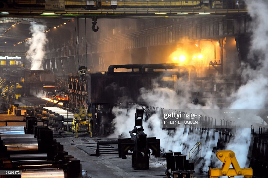 A photo taken on March 21 2013 shows a part of the Arcelor Mittal steel plant in GrandeSynthe northern France AFP PHOTO PHILIPPE HUGUEN