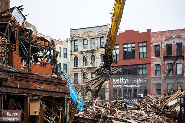 A photo taken on March 28th 2015 shows the wreckage of the East Village explosion New York City USA