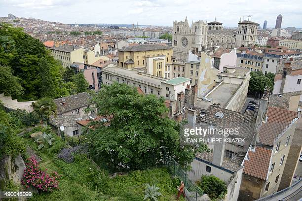 A photo taken on May 12 shows a view of buildings in the old SaintJean neighborhood of Lyon central eastern France Fifty years ago on May 12 a...