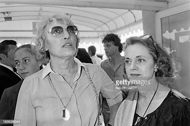 A photo taken on May 20 1982 shows Maya WidmaierPicasso daughter of Spanish painter Pablo Picasso and the widow of film director HenriGeorges clouzot...