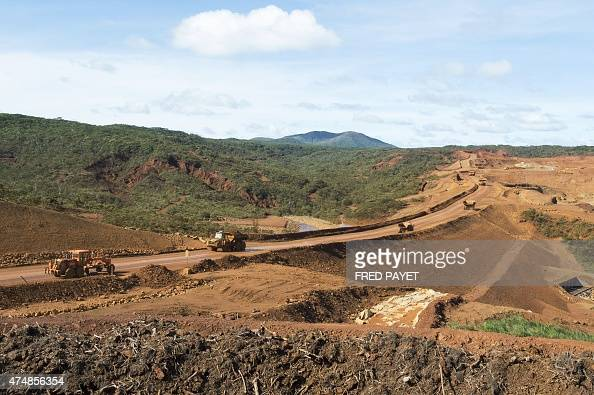 A photo taken on May 27 2015 shows the nickel mine of Goro in southern New Caledonia After a decade of technical and financial difficulties and...