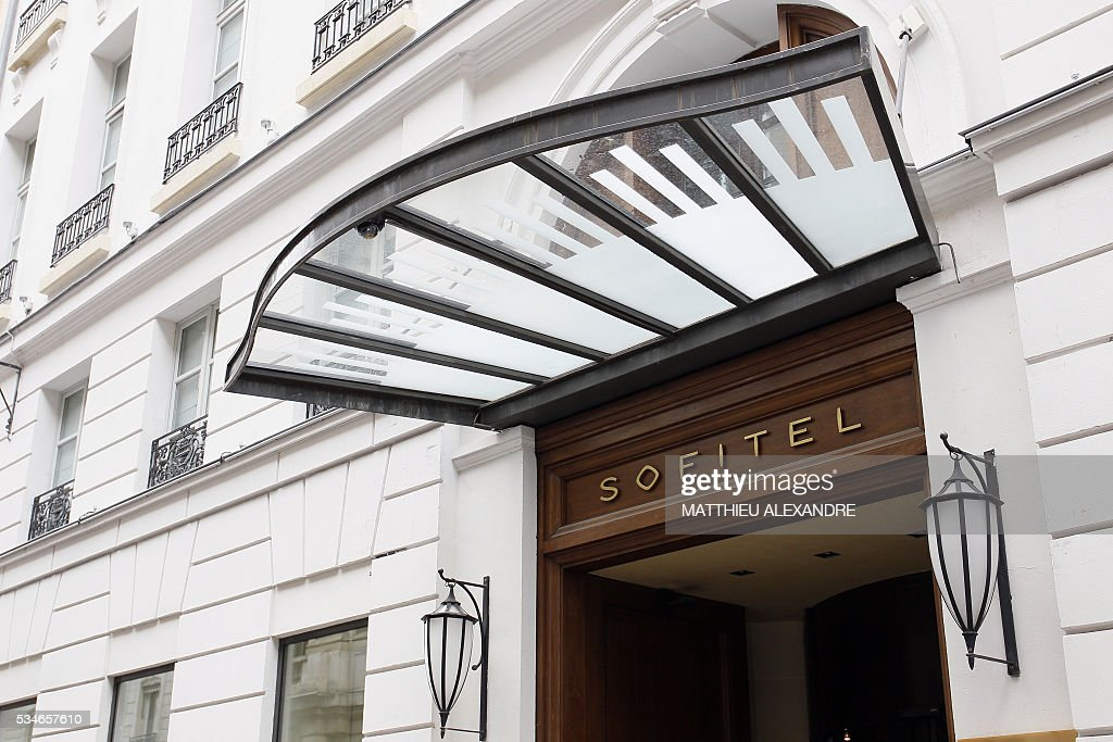 A photo taken on May 27, 2016 shows an exterior view of the Hotel Sofitel Paris Le Faubourg (AccorHotels group) in Paris. / AFP / MATTHIEU