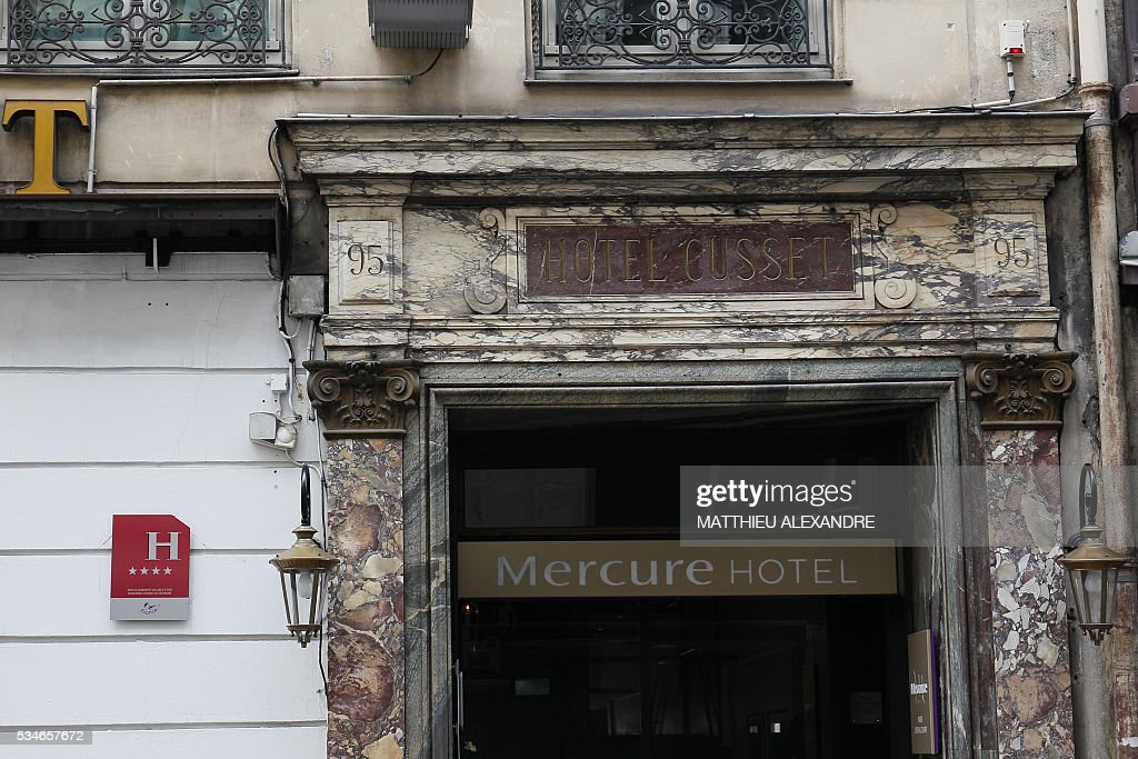 A photo taken on May 27, 2016 shows an exterior view of the Hotel Mercure Paris Opera Louvre (AccorHotels group) in Paris. / AFP / MATTHIEU