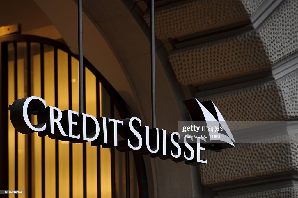 A photo taken on November 1 2011 shows the logo of the Swiss banking giant Credit Suisse in Zurich Credit Suisse said on November 1 that thirdquarter...