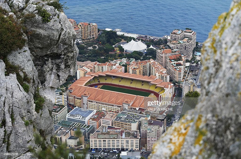 Photo taken on November 10 2014 shows a general view of Louis II stadium in Monaco AFP PHOTO / VALERY HACHE