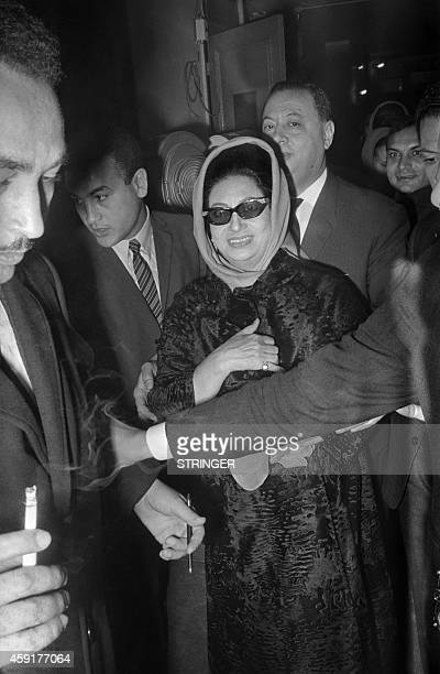 Photo taken on November 16 1967 at the Olympia concert hall in Paris shows Egyptian singer Umm Kulthum after her concert AFP PHOTO