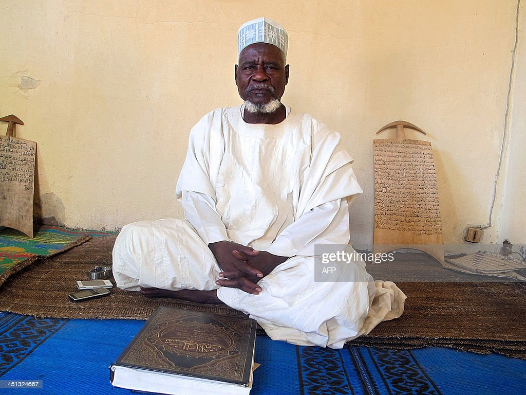 A photo taken on November 20, 2013 shows Dalil Hayatou, imam of the Great Mosque of the Dougoi district in Maroua, northern Cameroon.