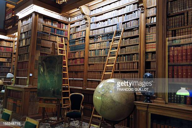 A photo taken on November 3 2012 shows the library of the French National Assembly in Paris The National Assembly is the lower house of the bicameral...