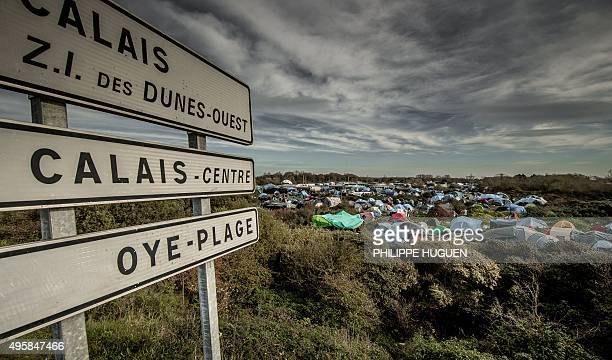 A photo taken on November 5 2015 shows the 'Jungle' migrants camp in Calais A French court on November 2 ordered the state to improve conditions at...