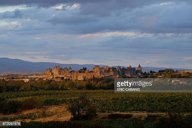 A photo taken on October 2 2016 shows the city of Carcassonne a UNESCO World Heritage site / AFP / ERIC CABANIS