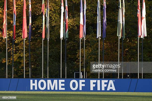 A photo taken on October 20 2015 shows a football pitch near world football's governing body FIFA headquarters in Zurich FIFA's reform committee on...