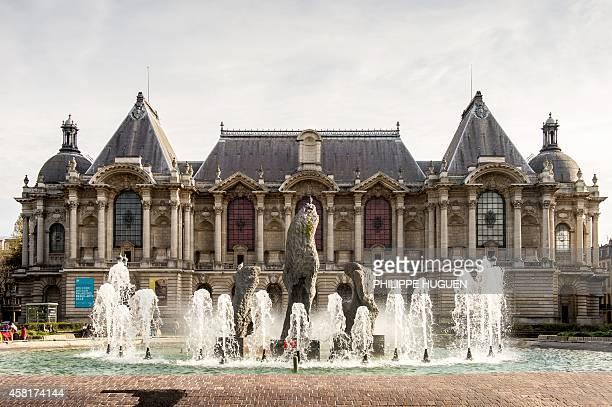 Photo taken on October 30 2014 shows the Palais des BeauxArts off the Place de la Republique in Lille northern France AFP PHOTO / PHILIPPE HUGUEN