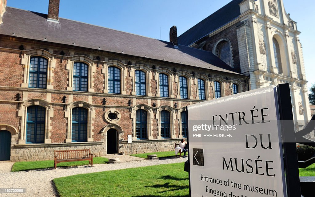 A photo taken on October 7, 2013 shows the entrance of La Chartreuse museum in Douai, northern France.