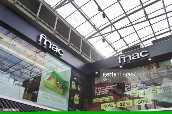 A photo taken on October 8 2012 shows Illustration shows a store of the French retailer of cultural and leisure products Fnac at the City 2 shopping...
