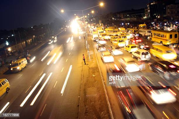 A photo taken on September 10 2012 shows the traffic on Agege Motor Road in Lagos The government in Lagos state where the city is located has made...