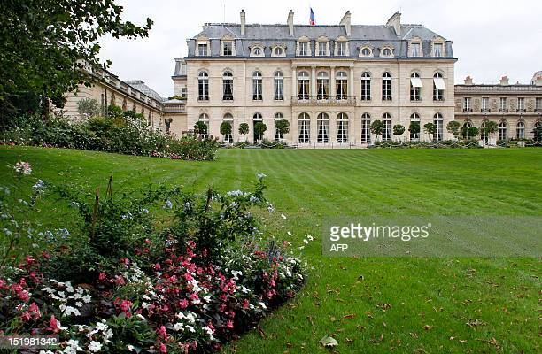 A photo taken on September 14 2012 in Paris shows the gardens of the Elysee Palace the official residence of the President of the French Republic...