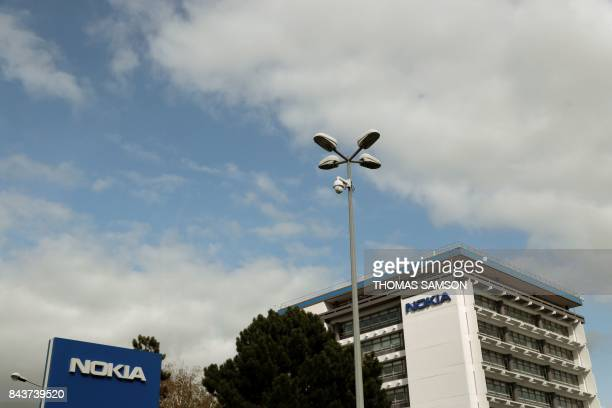 A photo taken on September 7 2017 shows the Nokia ParisSaclay campus research centre in Nozay near Paris Finnish telecoms giant Nokia said September...