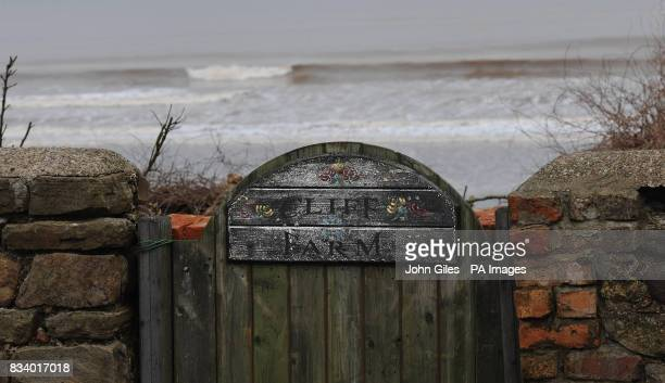 Photo This gate with a sign for Cliff Farm leads straight into the North Sea The farm close to Skipsea has been left teetering on the edge and will...