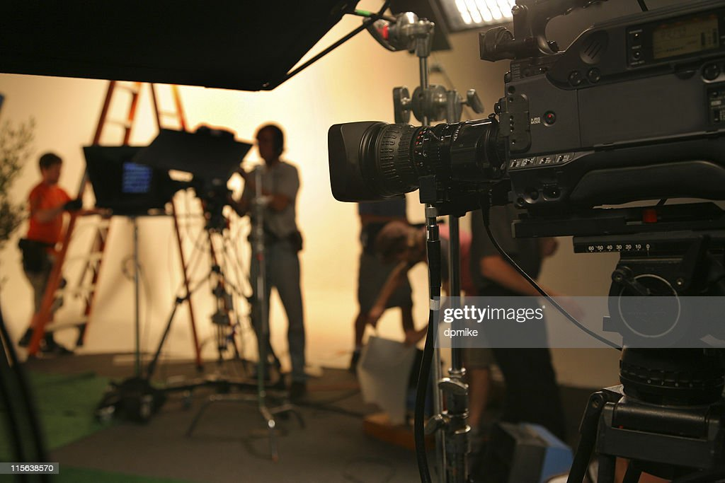 Photo TV Studio crew with camera