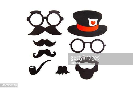 Selbstaufnahme Geburtstag Party Set-Gläser, Hüte, Kronen, Masken : Stock-Foto