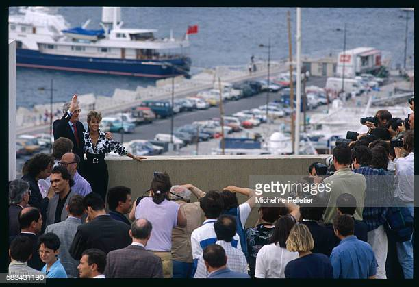 Photocall for the film Old Gringo with Gregory Peck and Jane Fonda at the 1989 Cannes Film Festival
