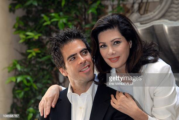 Photocall in Rome of the film 'Hostel Part 2' by director Eli Roth with actress Edwige Fenech in Rome Italy on June 18 2007