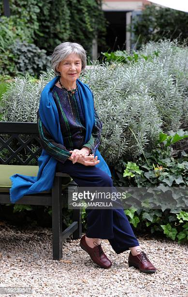 Photocall of the film 'Amour' Palme d'Or at the 2012 Cannes film festival with french actress Emmanuelle Riva on October 09 2012 in Rome Italy