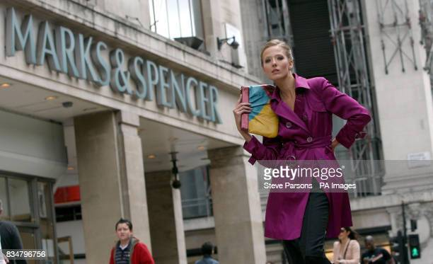 Photocall on Oxford Street in central London to celebrate the launch of the Marks Spencer Autumn winter range and new television advertisement