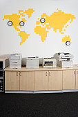 Photocopiers in an office