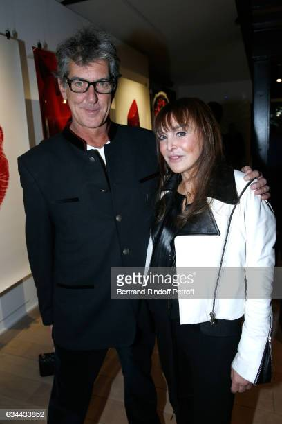 Photograph autor of the book Guido Mocafico and Babeth Djian attend the Launching of the Book 'Mocafico Numero' at Studio des Acacias on February 9...