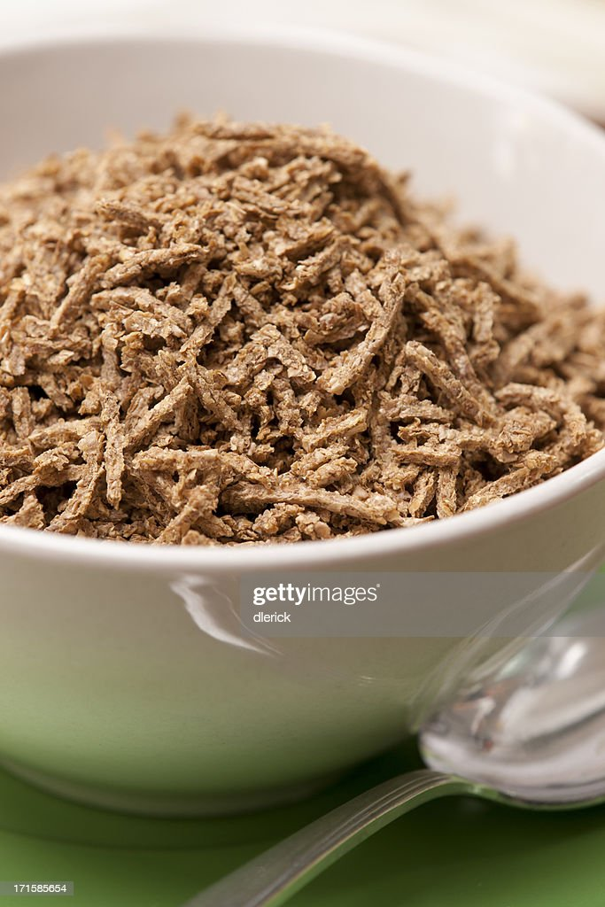 Photograph: Bowl of Bran Breakfast Cereal : Stock Photo